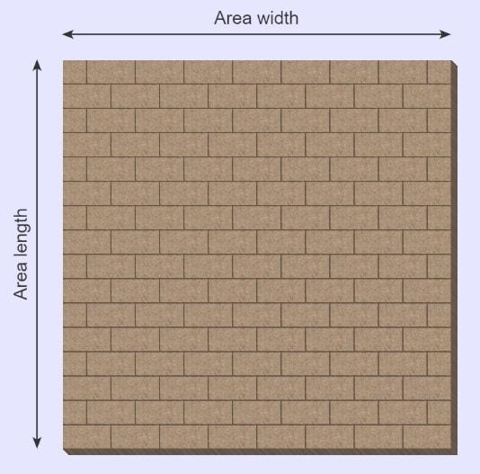 paver calculator rectangular
