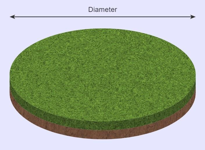 Sod calculator circle